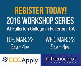 CCCApply & eTranscript California 2016 Workshop Series
