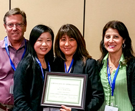 CCCAA officers at the 2015 Fall Conference, left to right: Eric Hoiland, Mandy Liang, Kitty Moriwaki and Parveen Dennis