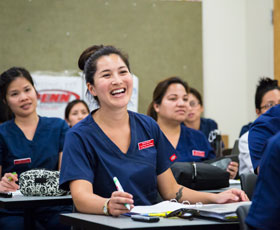 Nursing students at Long Beach City College; photo courtesy of the California Community Colleges Chancellor's Office